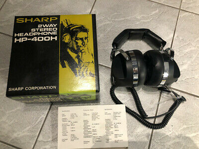 SHARP HP-400H VINTAGE HEADPHONES boxed IMMACULATE EXAMPLES