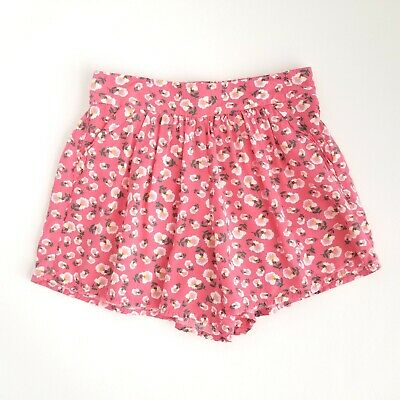 Zara Girls Casual Collection Skirt Girls 7 Floral Summer Loose Red/Pink