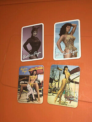 VTG Bettie Page Photo Sexy Girl Pin Up Sticker Lot Yeager BMP CMG Unused