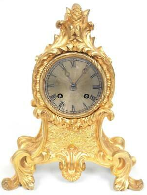 Empire French 8 Day Bell Striking Mantel Clock Solid Bronze Ormolu Clock C1830