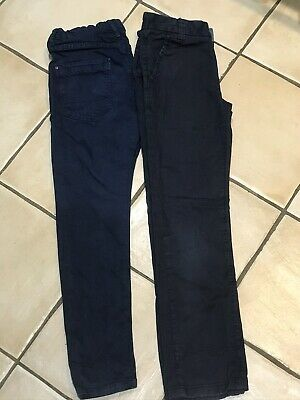 Two Pairs Of Smart Navy Blue Boys Trousers Age 7 122cm Zara & Next