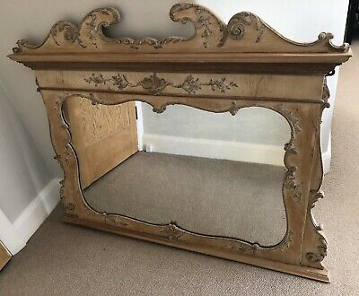 Beautiful 19th Century French Antique Overmantle Mirror