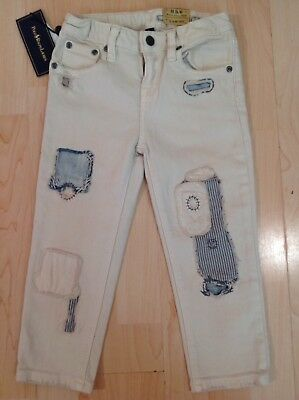 Polo Ralph Lauren Patch Up Distress Capri Jeans For 5 Years BNWT