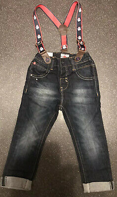 Next Boys Jeans with Christmas Braces  Age 18-24 Months BNWT