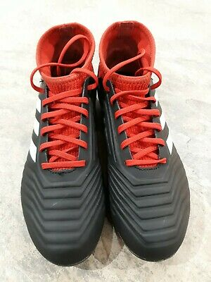 Adidas Predator Football / rugby (sock) Boots Red/black Size 5.5 Junior