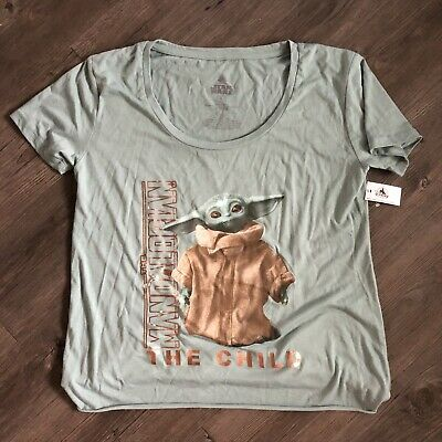 Disney Parks 2020 The Child Baby Yoda Star Wars Mandalorian Women's Shirt 2XL