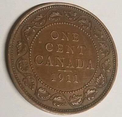 1911 George V Large One Cent Canadian Coin Huge Canadian Coin Collection Sale