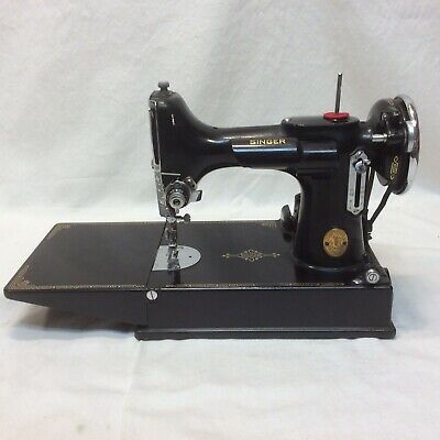 RARE 1937 SINGER FEATHERWEIGHT SEWING MACHINE And Table SERIAL #AE781188