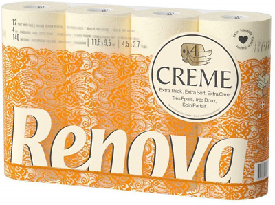 Renova Creme - Toilet Paper 4-ply, Scented – 12 Rolls