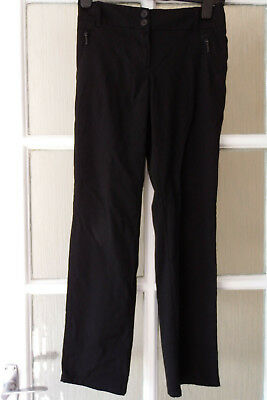 GIRLS MARKS & SPENCER (M&S) BLACK SCHOOL TROUSERS, 10-11yrs, EXCELLENT CONDITION