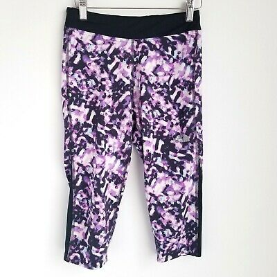 The North Face Cropped Leggings Girls L (14/16) Stretchy Multicolor Purple