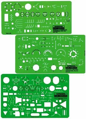 Chartpak R300 Rapidesign 300R Electrical/Electronic Template