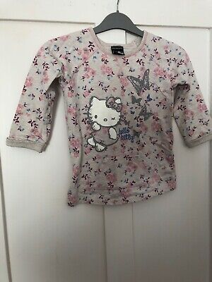 Girls Hello Kitty Floral Jumper Age 3-4 From George