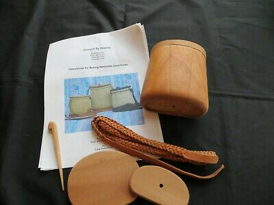 Nantucket Creel Purse Partial Basket Weaving Kit and Mold by Deanna Savoy