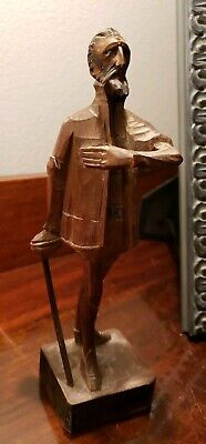 Ouro Artesania Don Quixote Folk Art Carved Wooden Figure No. 580-0 Made in Spain