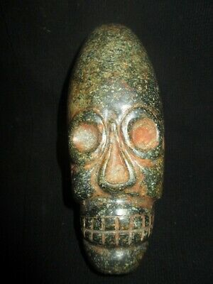 Moche Stone of Pre-Columbian deformed elongated head of trepanation Chavin,chimu