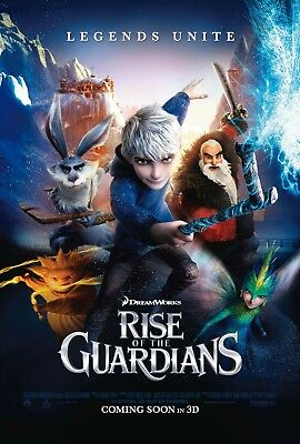 Rise Of The Guardians Hugh Jackman Animated Double Sided 27x40 Movie Poster 2012