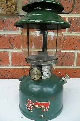 old COLEMAN USA Kerosine Tin Lantern, complete working, small ding to visor only