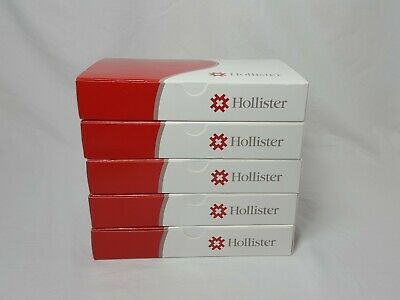 "New Image 2-piece Drainable Pouch 1-3/4""  Ultra Clear Hollister Lot of 5"
