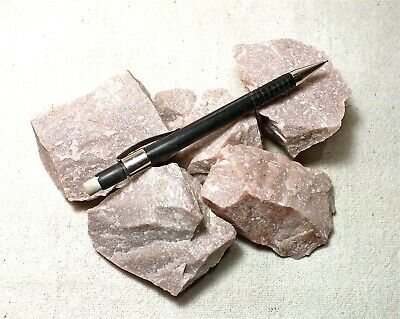quartzite -  pink Lower Cambrian quartzite - Unit of 5 student spercimens