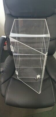 CHEAP Brand new lockable acrylic display case, 2 levels, 260mm x 260mm x 470mm