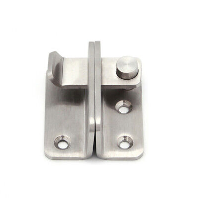 Door Latch Bolt Slide Catch Lock Home Security Gate Box Hardware Tools Silver