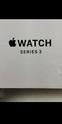 Brand new Apple Watch Series 3 38 mm Space Gray Aluminum white Sport Band