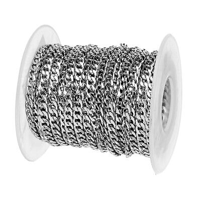 10Yards/Roll Stainless Steel Curb Chains Oval Link Cable String Spool 3/4/5mm