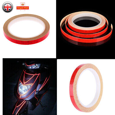 8m Safety Reflective Stickers Tape Bicycle Bike Car Motorcycle Night Cycling New