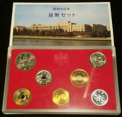 1984 Japan - Official Mint Set (6) - Year Of Rat - Orig. Red Case, Box, Coa