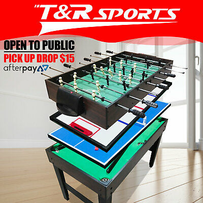 4-In-1 Soccer / Pool / Air Hockey / Table Tennis Tables Football Games 4FT