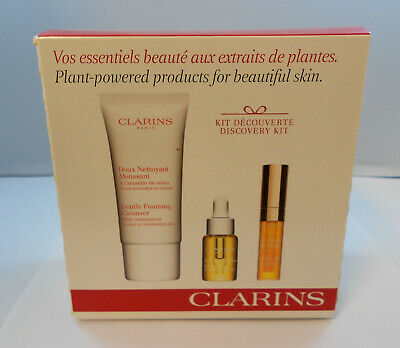 Clarins Giftset Plant-Powered Products For Beautiful Skin Discovery Kit NEW