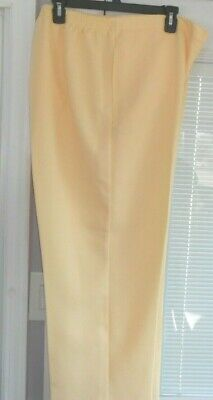 Alfred Dunner Size 18 Yellow Butter Pants Proportioned Short #31500