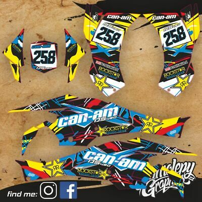 Can Am Ds 450 Custom Graphic Kit Stickers
