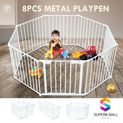 3-in-1 Metal Kids Children Pet Baby Safety Playpen with Double Locking System