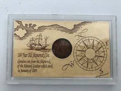 1809 East India Coin Admiral Gardner Genuine Shipwreck (3341056H)