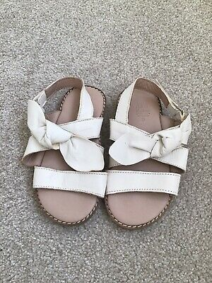 Zara Baby Girl Leather Sandals Worn Once Size Uk Infant 6.5