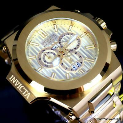 Invicta Reserve Akula 58mm Gold Plated Steel Swiss Mvt Chronograph Watch New