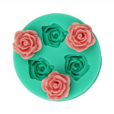 Mini Rose Flower Silicone Mold Making For Super Sculpey TOP Polymer Clay Z9H1