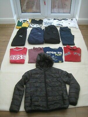 Mixed Bundle of Boy's Clothing x 14 Items - Age 13-14 Years Ralph Lauren, Adidas