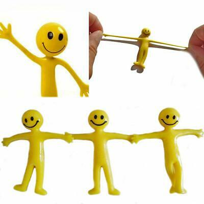 Stretchy Men Smile Yellow Man Kids Party Fun Loot Bags Fillers Mini Stretch Toys