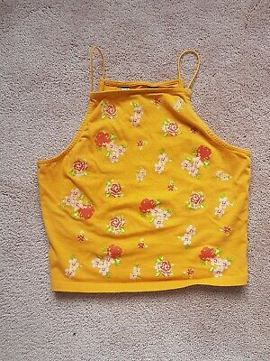 Girls Flower Print Cropped Top from New Look - Age 12 Years