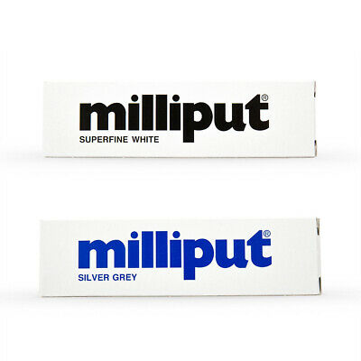 NEW Milliput Two Part Epoxy Putty Superfine White / Silver Grey 4Oz BOXED Fast D