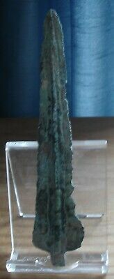 Luristan Bronze Dagger Blade with twisting snake form blood groove - 20 cm