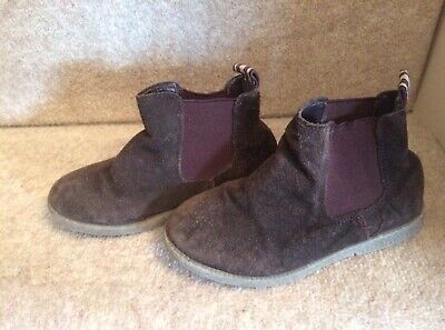 M&S ~ Boys Brown Suede Chelsea Boots Kids uk Size 8 ~ Marks and Spencer