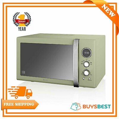 Swan Retro 25 Litres 900 Watts, Digital Microwave Green SM22085GN