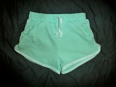 TU Girls pale green shorts with white edging detail age 3 years