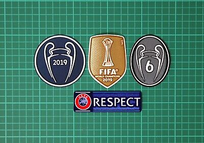 UEFA Champions League, 6 Times Winners & RESPECT Patches 2019/2020 Liverpool