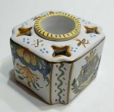 Beautiful Small Inkwell Ancient in Faience 19th Century st Germain-En-Laye