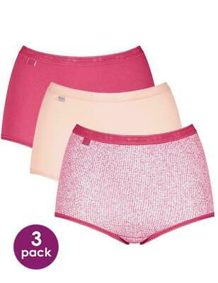 Sloggi Basic Maxi Coloured Briefs 3 Pack Pink Mix BNWOB